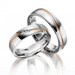 SP-ES-11 Ocelové snubní prsteny SP-ES-11