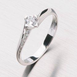 Dámský prsten z bílého zlata GZ2101B