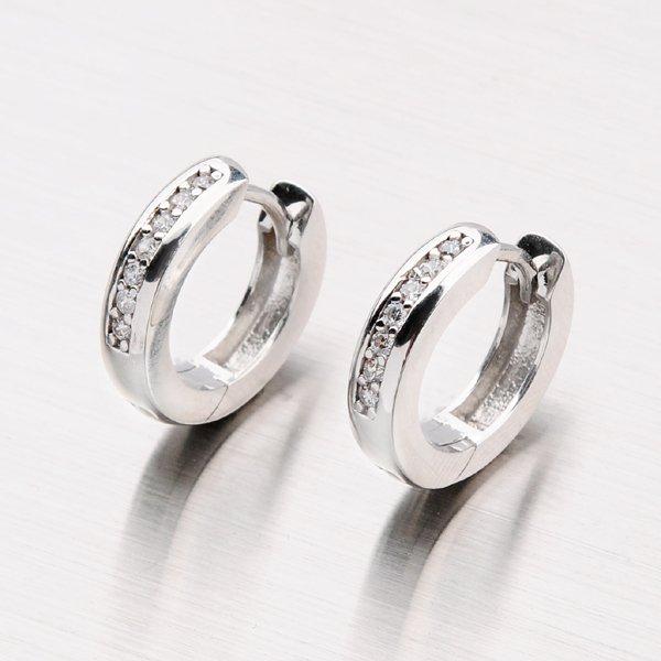 Stříbrné kroužky se zirkony OKP-435-OKS