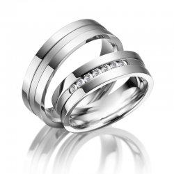 Ocelové snubní prsteny SP-ES-08