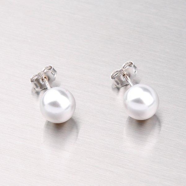 Náušnice pecky s perlou 8 mm YNG2044