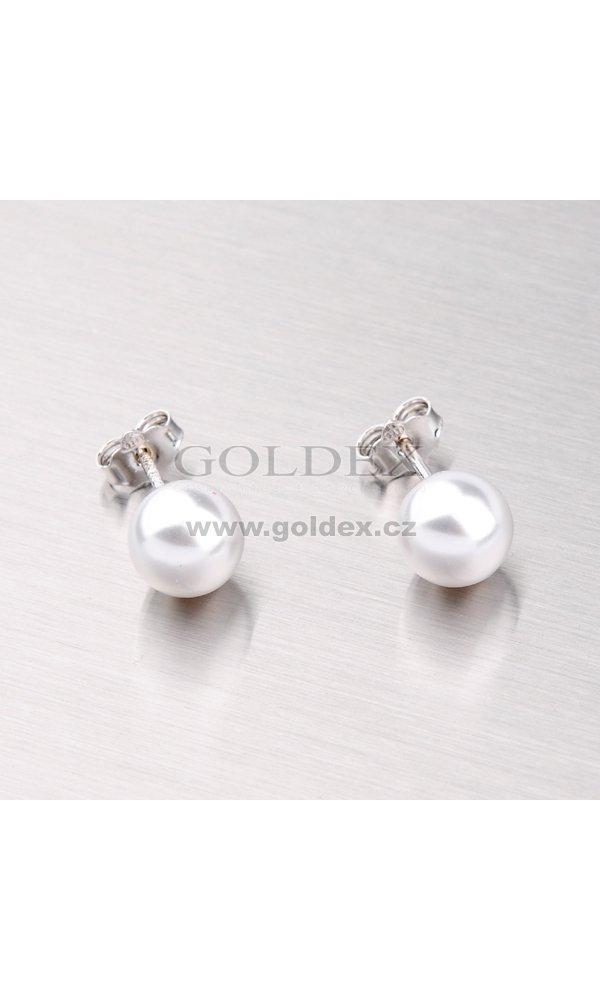 Náušnice pecky s perlou 8mm YNG2044   Goldex.cz 31c234ff28f