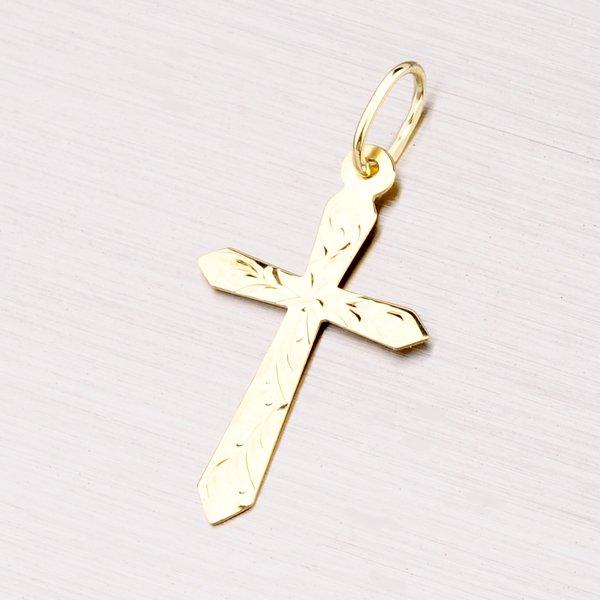 Zlatý přívěsek křížek 322-0101