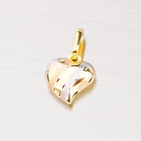 Zlatý přívěsek ve tvaru srdce 13-101