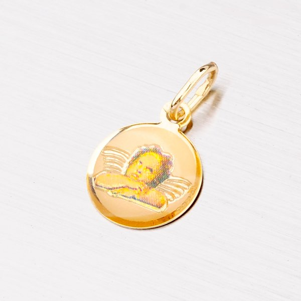 Zlatý přívěsek s andělíčkem 13-109