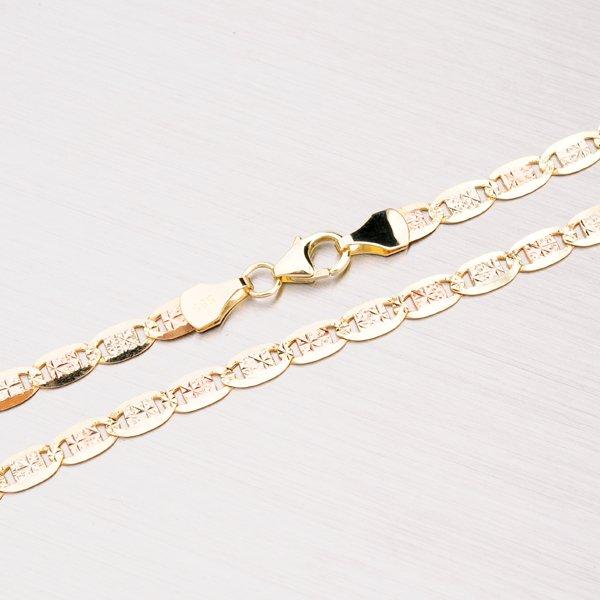 Kombinovaný zlatý řetízek 304-0493
