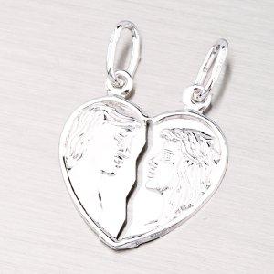 Stříbrný přívěsek pro zamilovaný pár M5520B