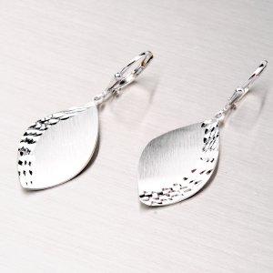 Visací náušnice ze stříbra NZM-187-OKS