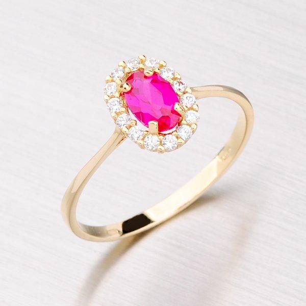 Zlatý prsten s rubínem 11-065