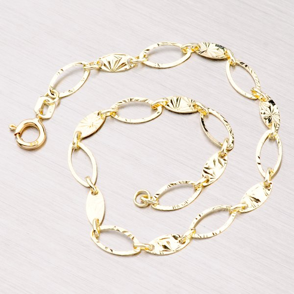 Gravírovaný zlatý náramek 44-1256