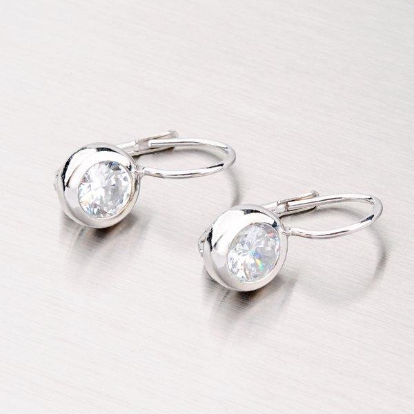 Stříbrné náušnice se zirkonem YNG2087
