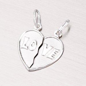Stříbrný přívěsek pro zamilovaný pár M5520C