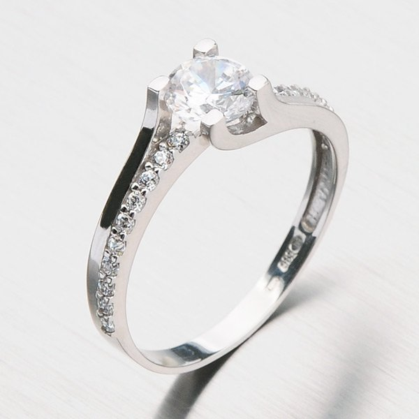 Dámský prsten z bílého zlata GZ2531B