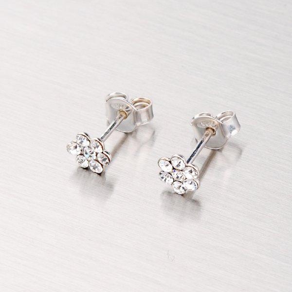 Stříbrné pecky s krystaly YNG2062