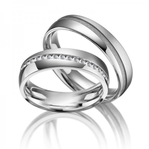 SP-ES-12 Ocelové snubní prsteny SP-ES-12