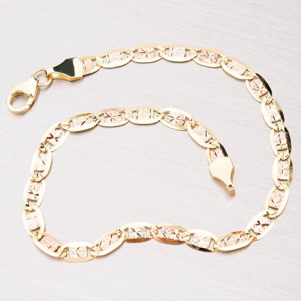Kombinovaný zlatý náramek N304-0493