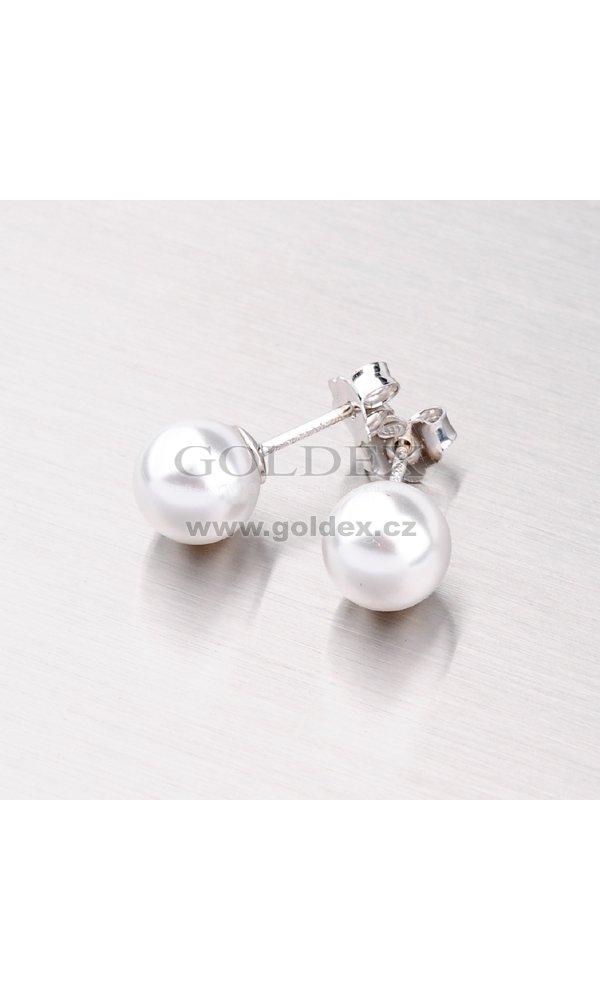 Náušnice pecky s perlou 8mm YNG2044 Náušnice pecky s perlou 8mm YNG2044 b7afe1ef22a