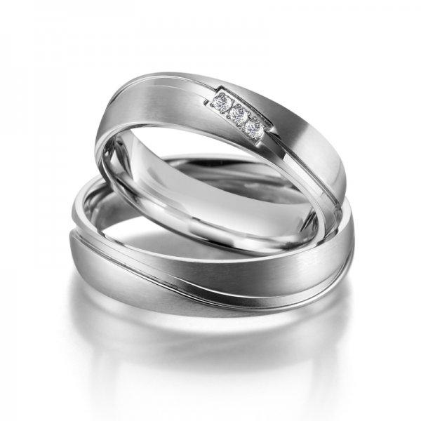 Ocelové snubní prsteny SP-ES-01