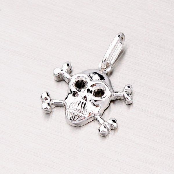 Stříbrný přívěsek lebka MPN6089T2