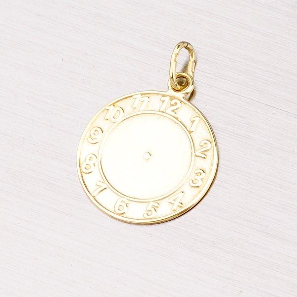 Zlatý přívěsek - křtící hodiny 13-111