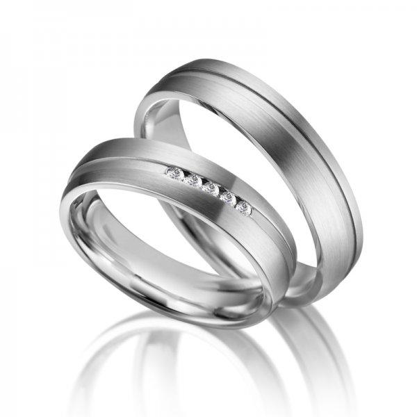 SP-ES-07 Ocelové snubní prsteny SP-ES-07