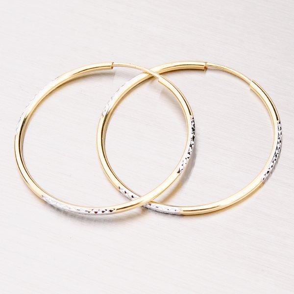 Kombinované zlaté kruhy 33 mm 12-194