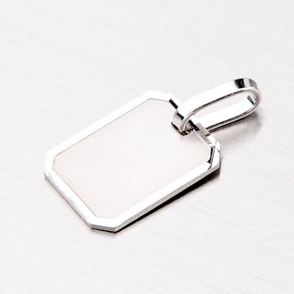 Stříbrný přívěsek - destička M5409