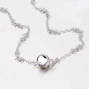 Stříbrný náhrdelník s kuličkou YNG5014