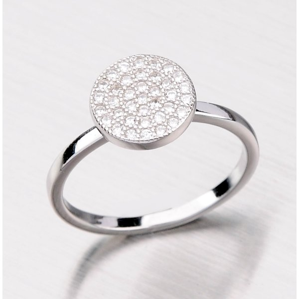Stříbrný prsten se zirkony RXK04140147