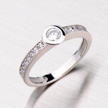 Zlatý prsten se zirkony GZ2357B