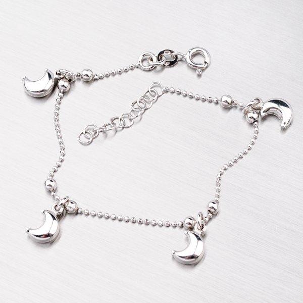 Stříbrný náramek s měsíčkem YNG4021