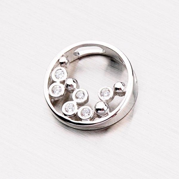 Stříbrný přívěsek se zirkony PXX01160146