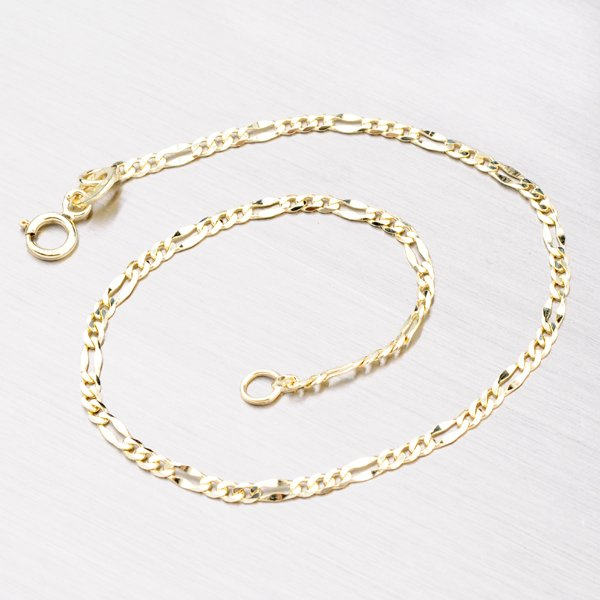 Zlatý náramek Figaro 3+1 44-1156