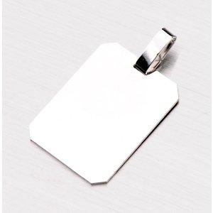 Stříbrný přívěsek destička AAA-008-TPZG