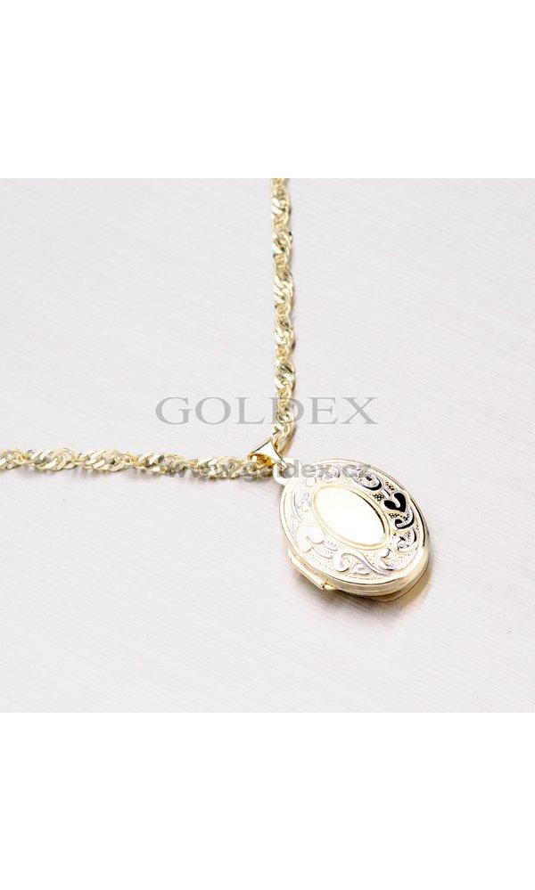 Zlatý přívěsek - medailon na fotku 192-0320   Goldex.cz 48ee249c84e