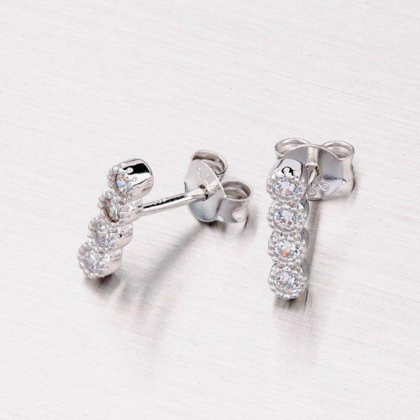 Stříbrné pecky se zirkony EXX01160227