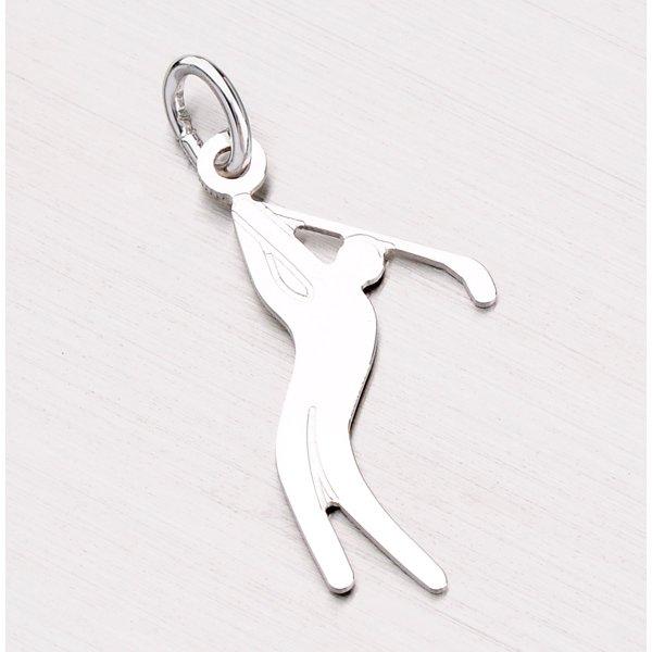 Přívěsek ze stříbra - golfista NNA-003-TPZG