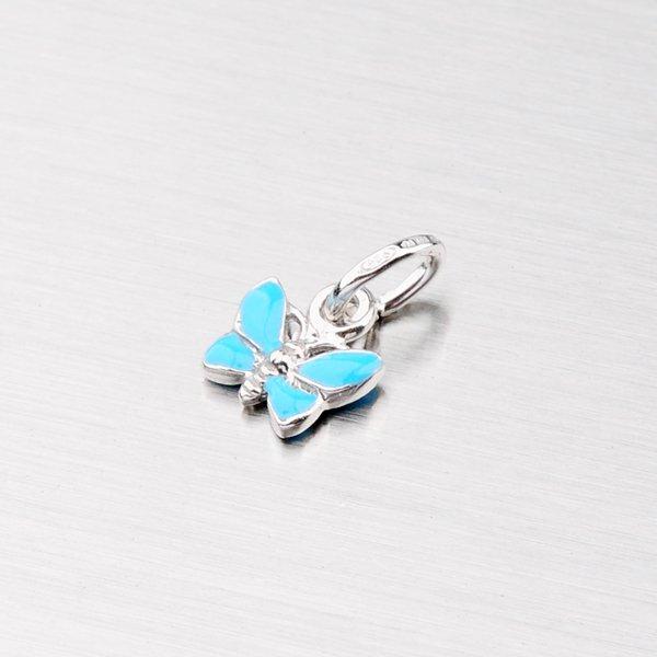 Stříbrný přívěsek - modrý motýl M570916SM-SM