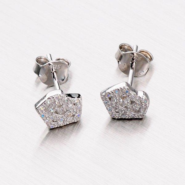 Stříbrné náušnice se zirkony - pecky EXX14160102