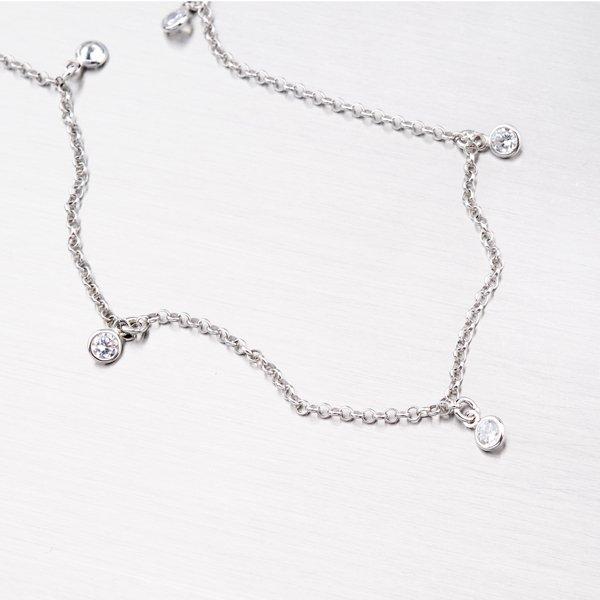 Stříbrný náhrdelník se zirkony MCL1477Z7