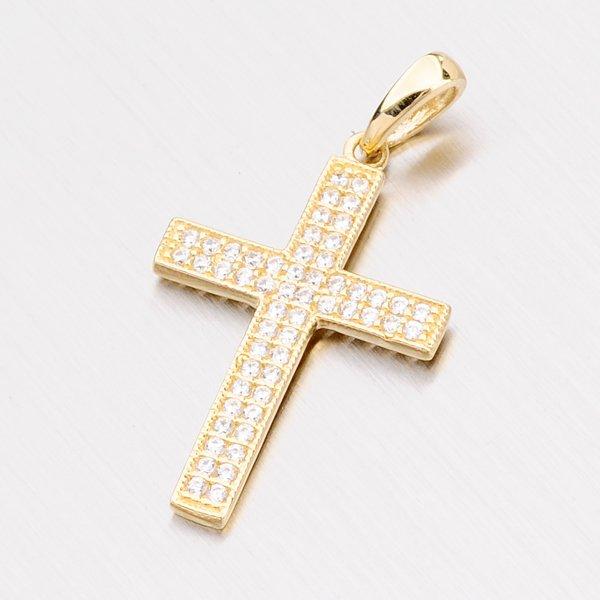 Zlatý kříž se zirkony 112-4119