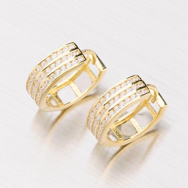 Zlaté kruhy se zirkony 143-1855