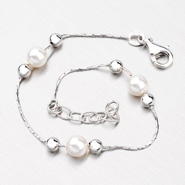 Stříbrný náramek s perlami YNG4025