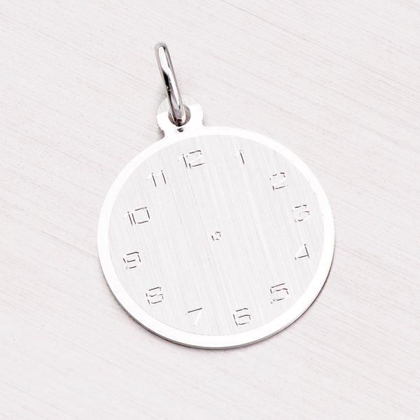 Stříbrný přívěsek křtící hodiny k narození dítěte FOH-027-TPZG