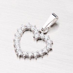 Stříbrný přívěsek - srdce MPN4941