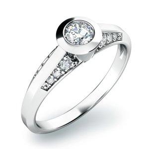 Zásnubní prsten s diamanty ZP-10798D