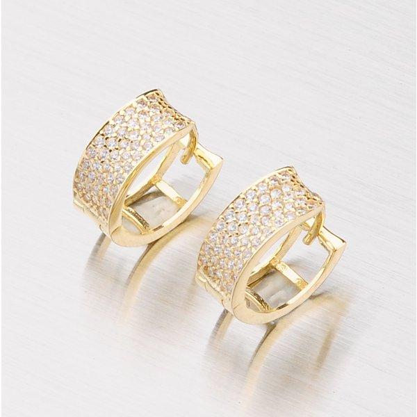 Zlaté kroužky se zirkony 12mm 143-1844