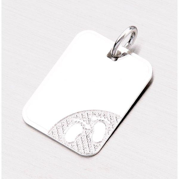 Stříbrný přívěsek destička CGIO-10608-TPZG