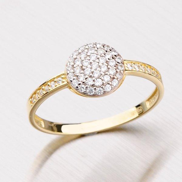 Zlatý prsten se zirkony 111-0586