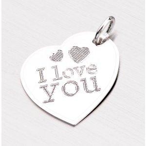 Stříbrný přívěsek - I LOVE YOU GAB-008F05-TPZG